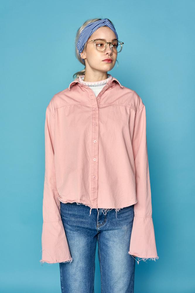 steve flared sleeve blouse (pink)